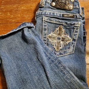 Miss Me cuff capri Jeans size 8